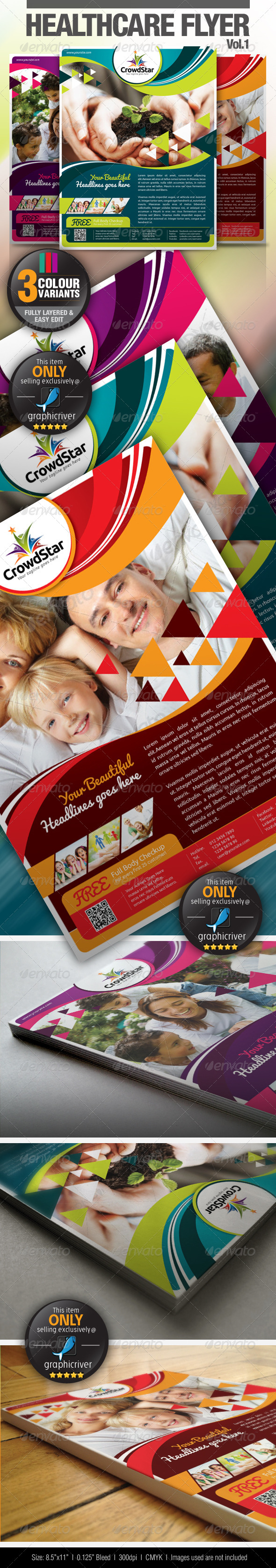 GraphicRiver Healthcare Flyer Vol.1 4669859