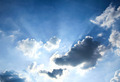 Beautiful dramatic sky with sun rays. - PhotoDune Item for Sale