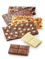 Various chocolate bars on white background - PhotoDune Item for Sale