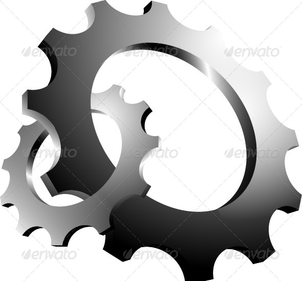 GraphicRiver 3D Interlaced Cogs 4653630