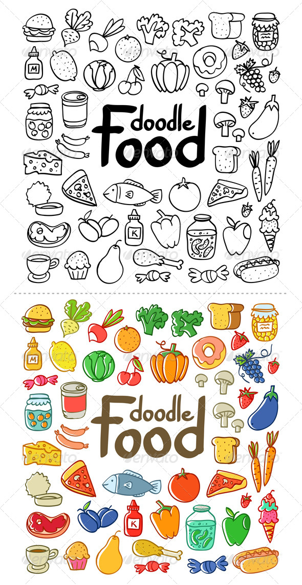 GraphicRiver Food Doodle 4670581