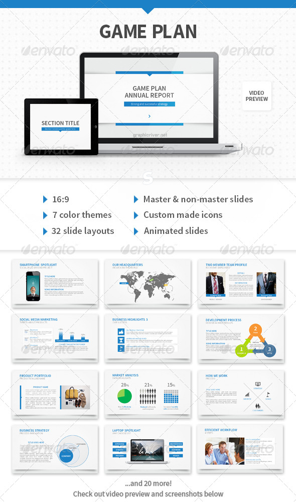 Game Plan PowerPoint Template - Business Powerpoint Templates