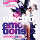 Electro Emotions Flyer Template - GraphicRiver Item for Sale