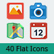 40 Flat UI Icons - GraphicRiver Item for Sale