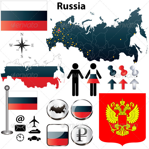 GraphicRiver Russia Map 4140295
