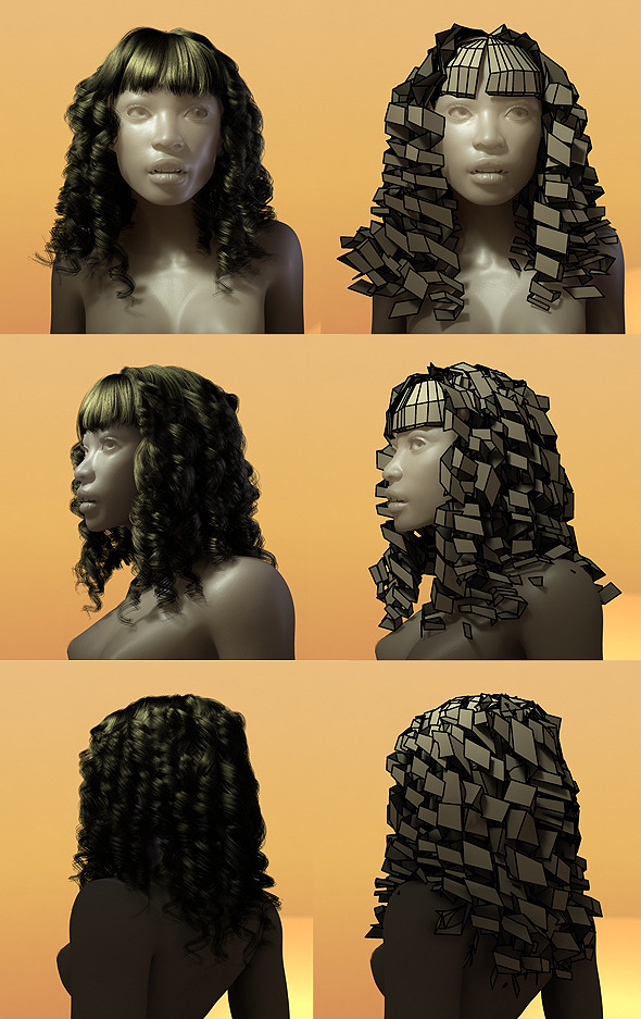 3d Model Female Hair Style 004