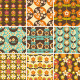 Set of Retro Seamless Pattern Wallpaper - GraphicRiver Item for Sale