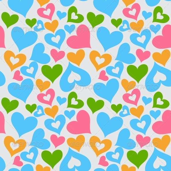 GraphicRiver Valentine Seamless Hearts Pattern 4672774