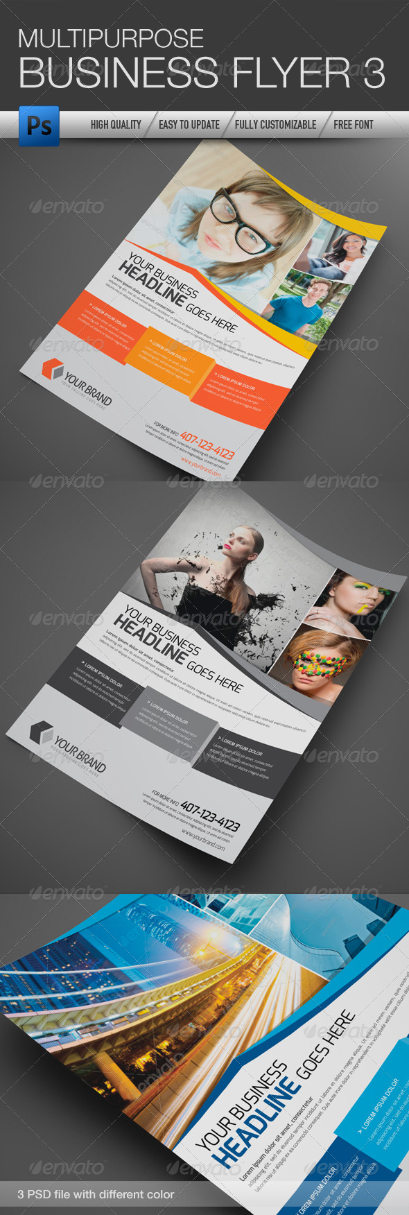 GraphicRiver Multipurpose Business Flyer 3 4673296