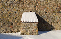 vintage fort stone wall clay tile roof snow winter - PhotoDune Item for Sale
