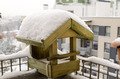 wooden small house birdie abundant snow roof - PhotoDune Item for Sale