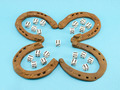 clover retro horse shoes gamble dice six blue - PhotoDune Item for Sale