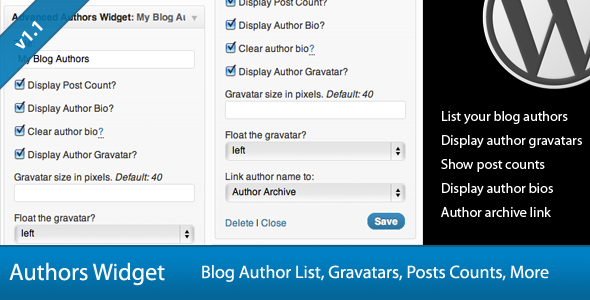 Disolay Post Desplay Author Clear author DespLay Author Gravatar size pixels Default Float the u.spiay rost.ounrt Dksplay Author Clear author Desplay Author Gravatarsze 4ri pixels. Float the left Link author name Author Aitbive Delete Close List your blog authois Display author gravtars Show post counts Display author bios Author archive link Authors Authors Widget Blog Author List, Gravatars, Posts Counts, ore