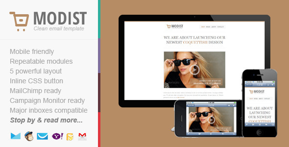 ThemeForest Modist Responsive Fashion Email Template 4664949
