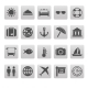 Travel Icons on Gray Squares - GraphicRiver Item for Sale