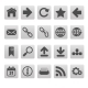Web Icons on Gray Squares - GraphicRiver Item for Sale