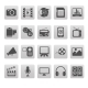 Media Icons on Gray Squares - GraphicRiver Item for Sale