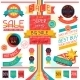 Set of Sale Labels and Stickers in Retro Stile. - GraphicRiver Item for Sale
