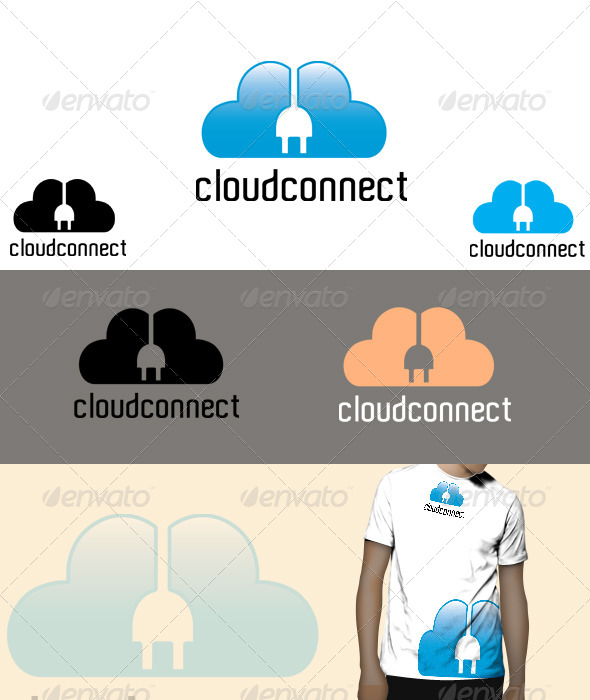 GraphicRiver cloud connect Logo 4615434
