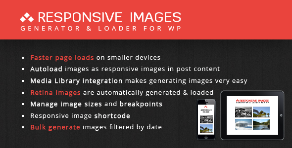 CodeCanyon Responsive Images Generator & Loader 4663723