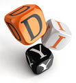 diy orange black dice blocks - PhotoDune Item for Sale
