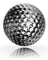 golf ball silver metal - PhotoDune Item for Sale