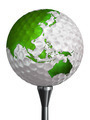 australia and asia green continent on golf ball - PhotoDune Item for Sale