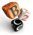 b2c orange black dice blocks - PhotoDune Item for Sale