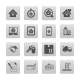 Real Estate Icons on Black Squares - GraphicRiver Item for Sale