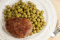 Cutlet with green peas - PhotoDune Item for Sale