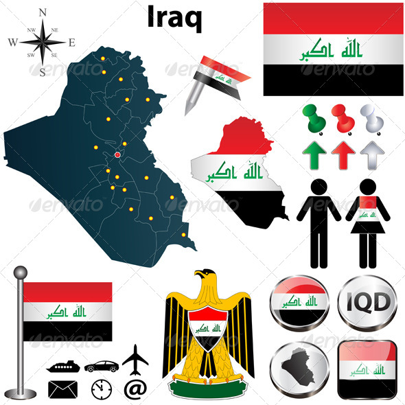 GraphicRiver Map of Iraq 4680570