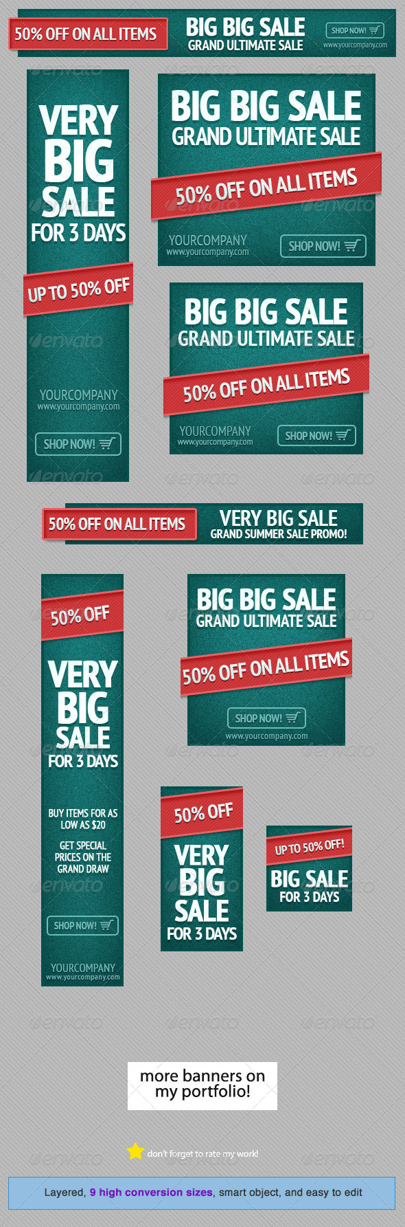 GraphicRiver Green Event Web Banner Design Template 4680732