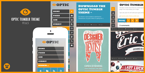 Optic Responsive Tumblr Theme - Blog Tumblr