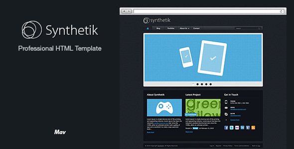 Synthetik Professional xHTML Template - Portfolio Creative