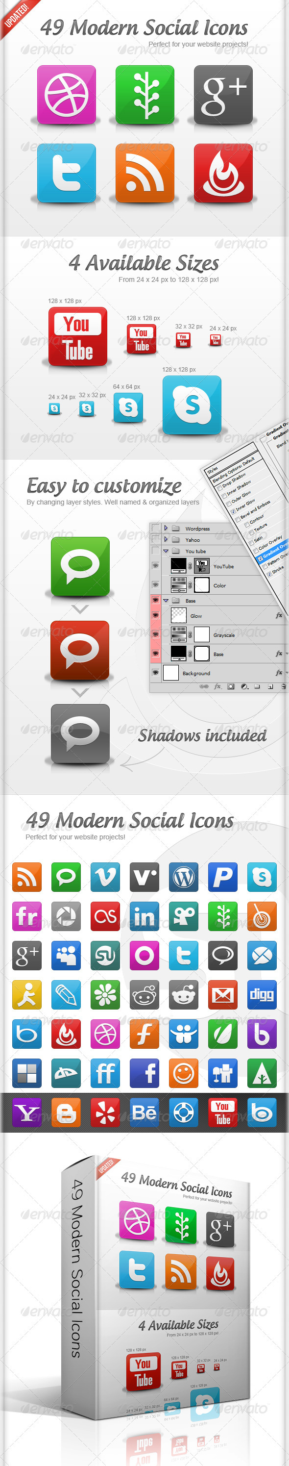 30 Modern Social Icons - Web Icons