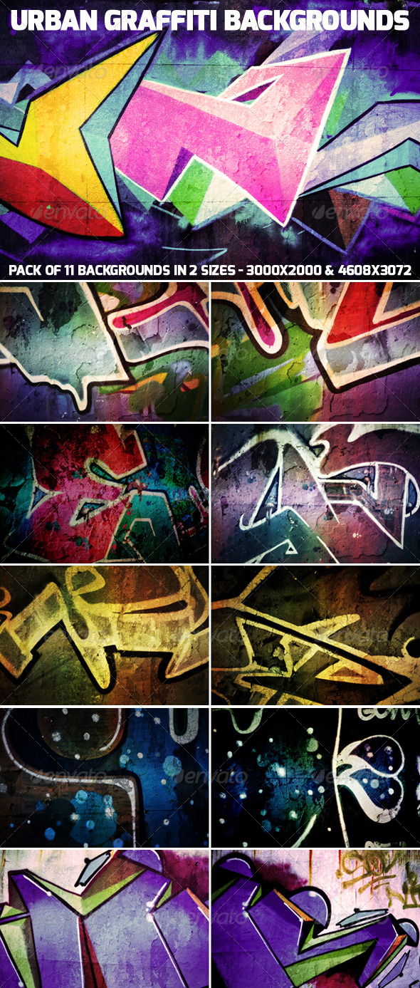 GraphicRiver Urban Graffiti Backgrounds 4600746
