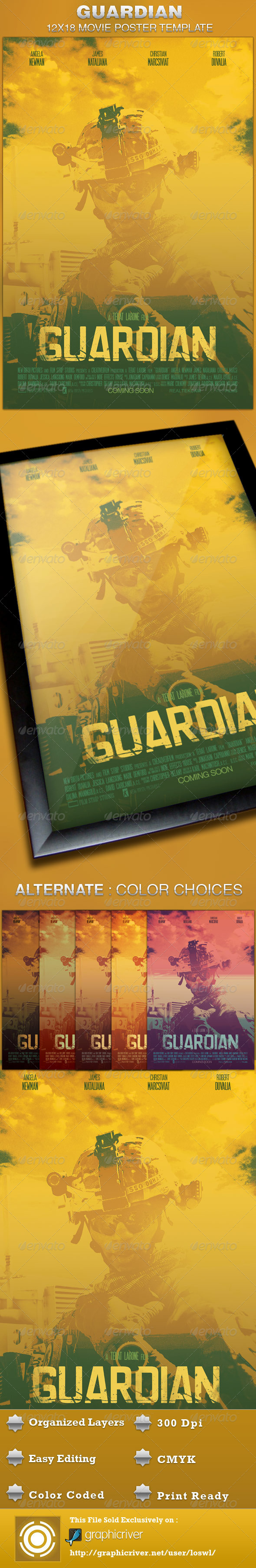 Guardian Movie Poster Template - Church Flyers