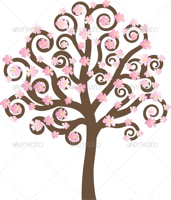 GraphicRiver Spring Tree 4681896