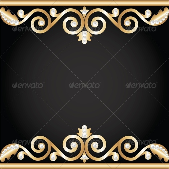 GraphicRiver Background with Gold Jewelry Frame 4682013