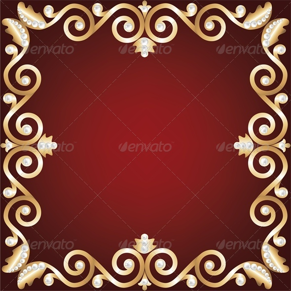 GraphicRiver Background with Gold Jewelry Frame 4682025