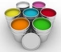 open buckets with a paint - PhotoDune Item for Sale