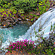 Waterfall and Flowers - VideoHive Item for Sale
