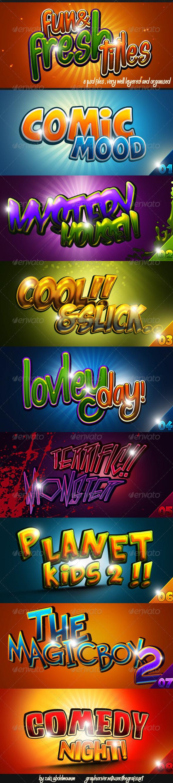 GraphicRiver Fun & Fresh Photoshop Titles 4573934
