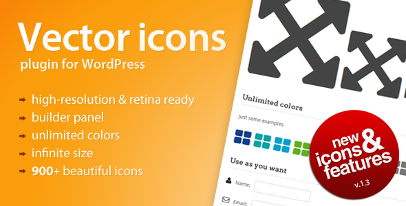 Vector Icons for WordPress - CodeCanyon Item for Sale