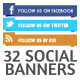 32 Social Banners - GraphicRiver Item for Sale