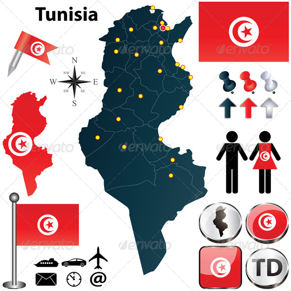 GraphicRiver Map of Tunisia 4686065
