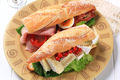 Cheese and ham sub sandwiches - PhotoDune Item for Sale