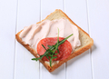 Bread with ham spread and salami - PhotoDune Item for Sale
