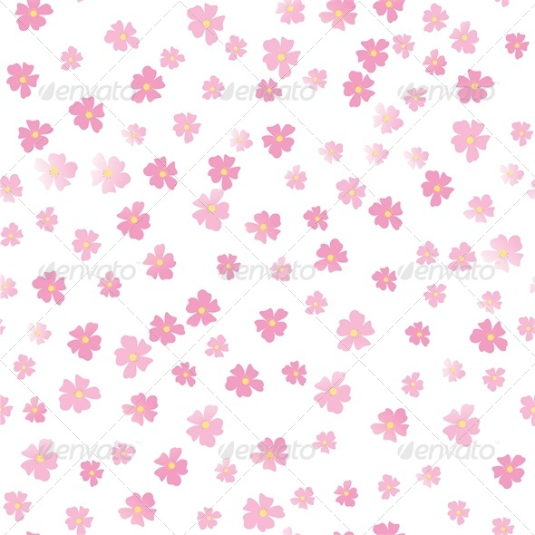 GraphicRiver Pink Flowers 4686992