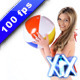Woman Playing With A Ball  - VideoHive Item for Sale